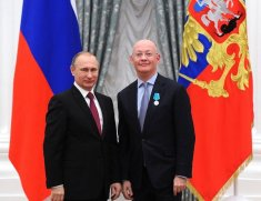 Blatchford receives Pushkin Medal