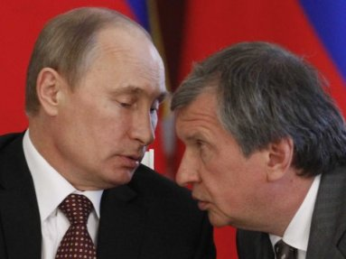 Putin Sechin close