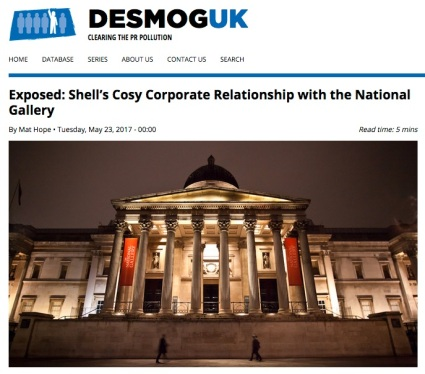 DeSmog article on Shell at National Gallery (excerpt)