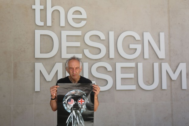Members Of The Nope To Arms Collective Pull And Collect Their Art Work On Show At The Design Museum In Protest Against The Museum's Involvement With The Weapons Company Leonardo